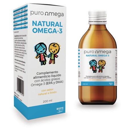 Omega-3 para niños, sabor limón