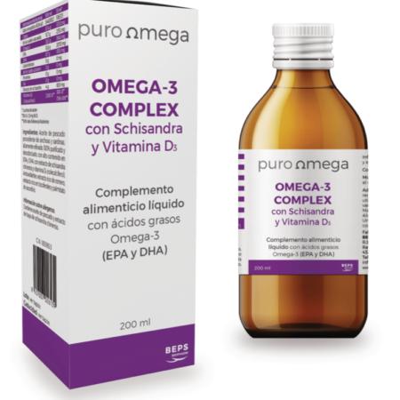Omega-3 Complex con Schisandra y Vitamina D3 - Puro Omega