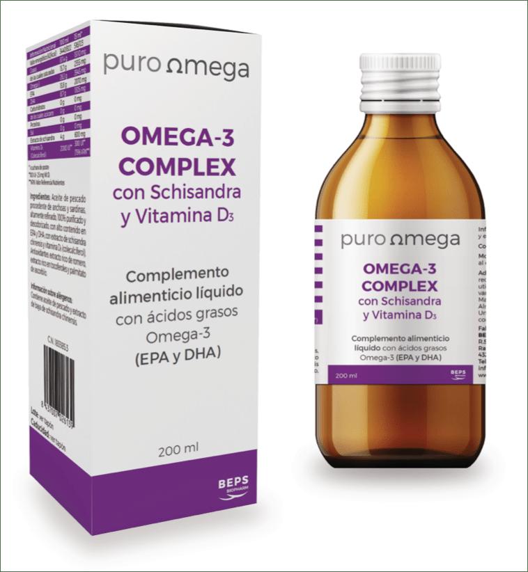 Omega-3 Complex con Schisandra y Vitamina D3 – Puro Omega