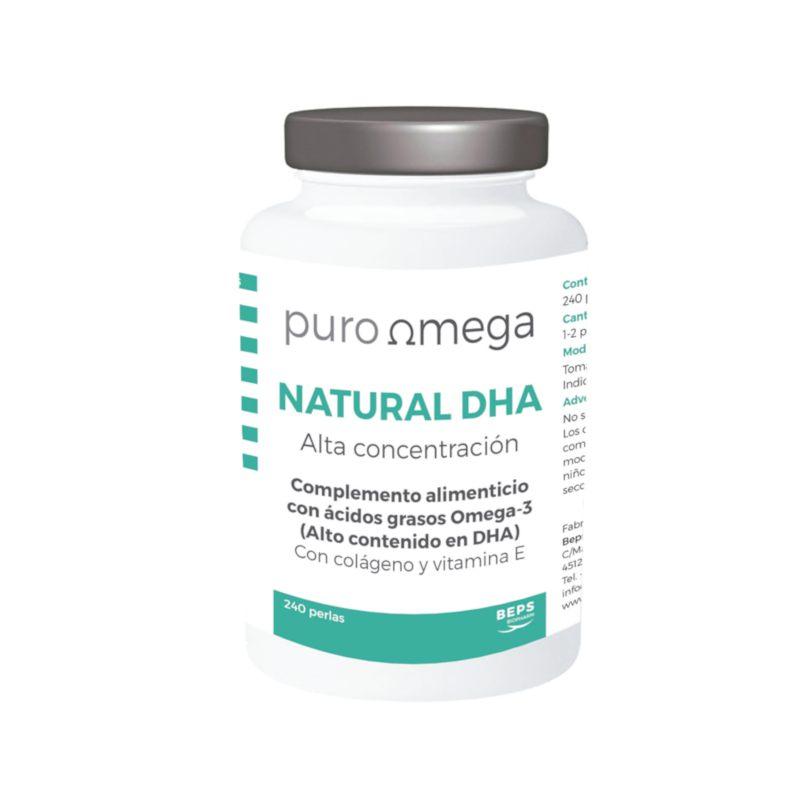 Natural DHA Alta concentración 240 perlas – Puro Omega