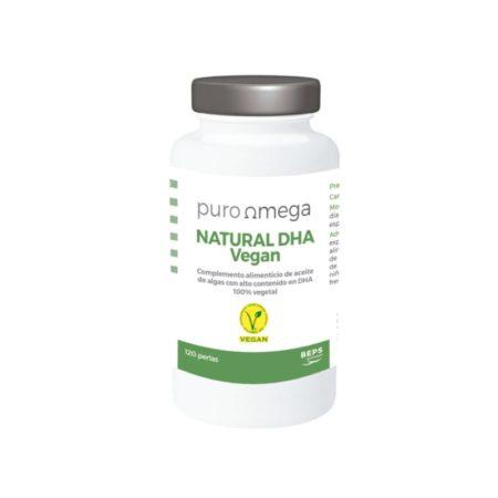 Natural DHA Vegan 120 perlas - Puro Omega